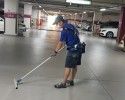주차장 청소작업